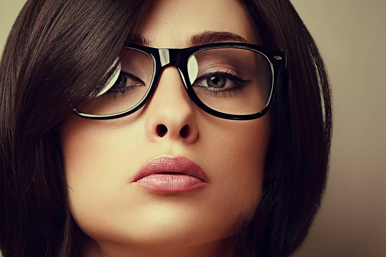 glasses fashionista lady dark hair