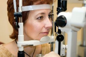 woman and microscope | Healthy Eyes For Life