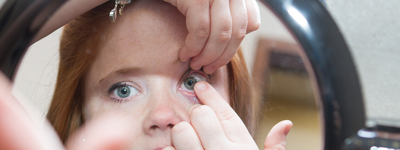 Joplin contact lens fitting for child