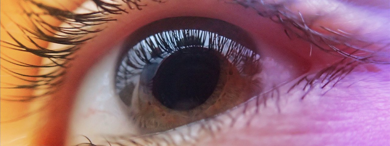 closeup eye